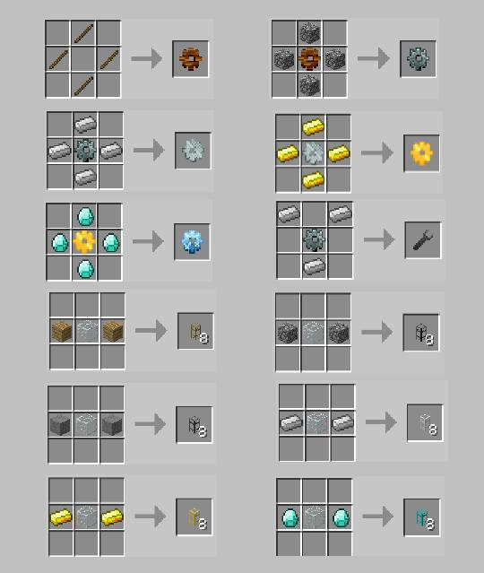 Minecraft buildcraft 2 рецепты